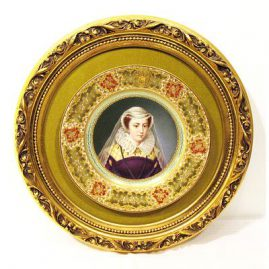 Pirkenhammer portait plate signed Wagner with raised gilding, late 19th century, Sold