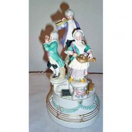 Vienna figural group of  musicians, 11 1/2 inches,  mid 19th century, Price on Request