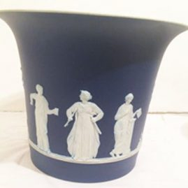 Wedgwood large jardiniere, 9 inches tall by 10 1/2 inches wide, before 1890s. Sold