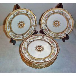 11 Wedgwood dessert plates, 8 inches, Sold