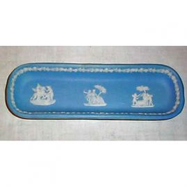 Wedgwood light blue tray, 1890-1920, 8 1/2 inches, Sold