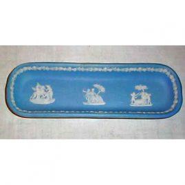 Wedgwood light blue tray, 1890-1920