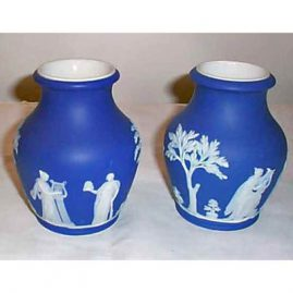 Pair of Wedgwood vases, before 1890, 5 1/2 inches, only one, Sold