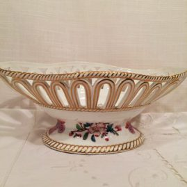 Royal Worcester made for Tiffany reticulated bowl, 9 1/2 inches, $350.00