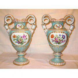 Back of Meissen vases with  Boucher scenes, ca-  1880s-1890s, SOLD