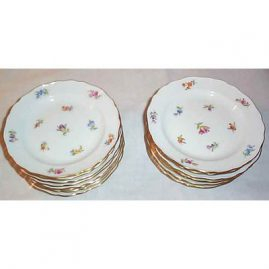 16 Meissen Streublumen cake plates,  7 inches, $110.00 each
