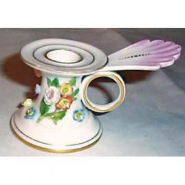 Meissen chamberstick with raised flowers