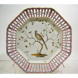 Other of the pair of Meissen Marcolini reticulated bird chargers,  diameter is 14 inches, ca-1774-1814, SOLD