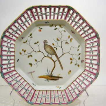 Other of the pair of Meissen Marcolini reticulated bird chargers,