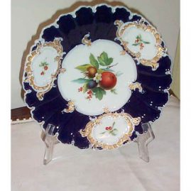 Meissen fruit charger, 1870s- 1880s, 11 1/4 inches, sold