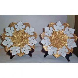 Meissen star plates , circa-late 19th-early 20th century, $1100.00 for pair, 10 inches