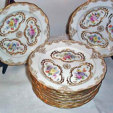 Set of 12 rare Meissen cake plates. Sold. We have a large collection of other Meissen cake plates