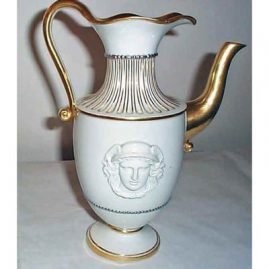 Rare Meissen pitcher with Mercury medallion