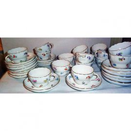12 Meissen streublumen cups  and saucers.  Price on Request.