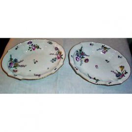 Antique Meissen bowls with flower bouquets, each painted differently,10 inches, $750.00 each