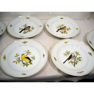 Set of six Meissen bird plates each painted with a different bird and bugs 9 3/8 inches ca-1870s-1880s Sold.We have other Meissen bird plate sets.  sc 1 st  Elegant Findings Antiques & Meissen Dinnerware Page 8 - Elegant Findings Antiques