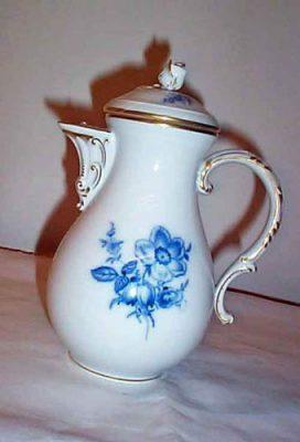 Meissen blue flowered coffee pot