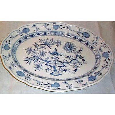 Meissen blue onion platter
