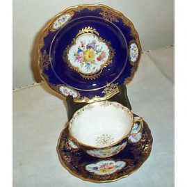 3 piece Meissen cup and saucer and dessert plate
