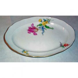 Meissen flowered platter