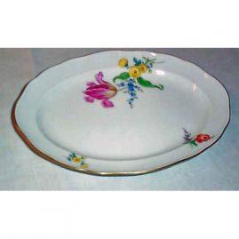 Meissen flowered platter, 10 1/2 inches. Price on Request.