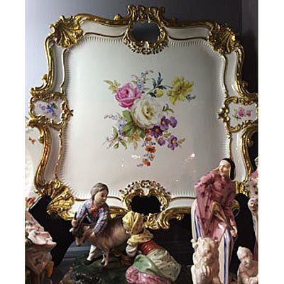 Large Meissen square tray