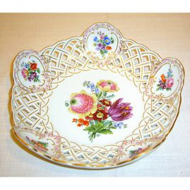 Meissen reticulated fluted bowl