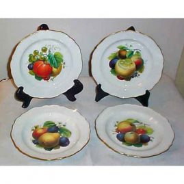 8 Meissen fruit plates,  all different, museum  quality, ca-1870s, Sold. We have many other fruit plates. Please look through our Meissen section for others available.
