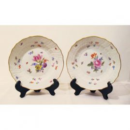 Meissen late 19th century lunches or desserts set of twelve,  7 7/8 inches, Prices on Request