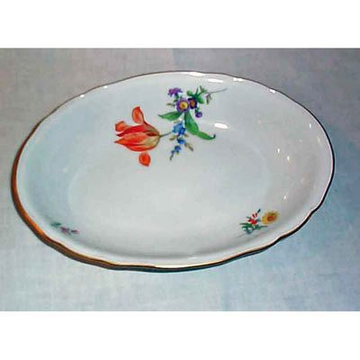 Meissen oval flowered bowl
