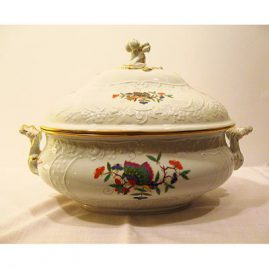 Rare Meissen Chinese butterfly tureen, with embossing