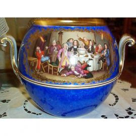 Other side of Meissen punch bowl after Hogarth