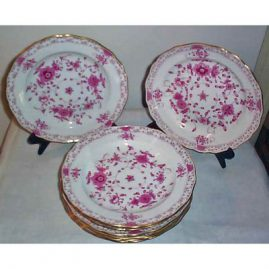 26 Meissen Purple Indian  dinners, Prices on Request.