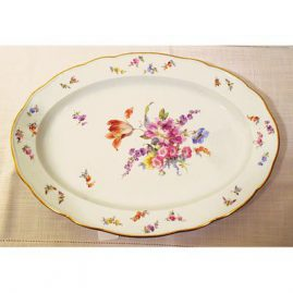 Large Meissen platter with bugs and flowers