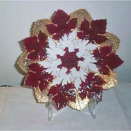 Meissen maroon and gold starburst plate