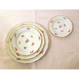 Meissen Streublumen dinner set for 12 mostly all late 19th century, prices on request