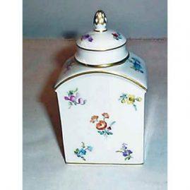 Meissen streublumen tea caddy, ca-1900