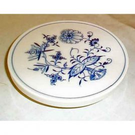 Meissen blue onion trivet