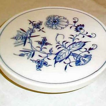 Meissen blue onion trivet, SOLD