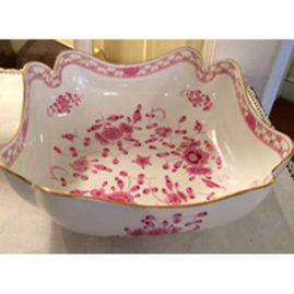 Rare Meissen purple Indian four cornered bowl.