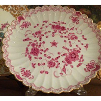 Meissen purple Indian fluted round bowl