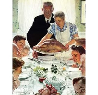Norman Rockwell's Painting entitled Freedom From Want