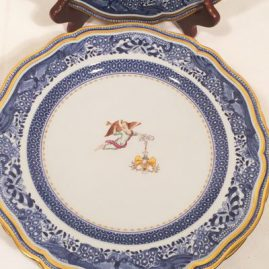 Front of the Spode dinner plate of George Washington's presidential china honoring the Cincinnati Society with their emblem or badge. We have a set of twelve of these rare plates. Price on Request.