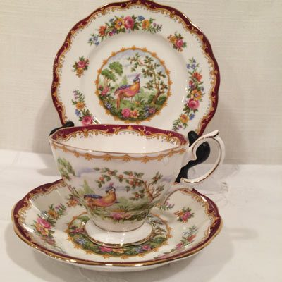 Twelve Royal Albert trios with cup, saucer and cake plate