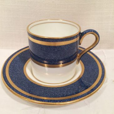 Nine Wedgwood coffee cans or demitasse cups and saucers, Price-$50 each.
