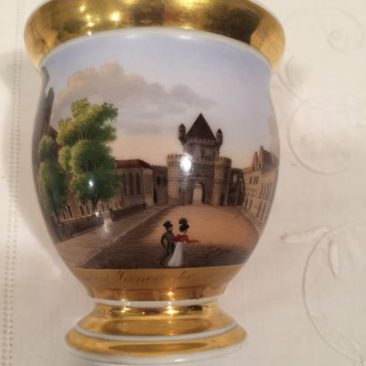 Close up of Paris Porcelain cabinet cup