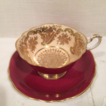 Paragon teacup and saucer, with double Paragon mark, Circa around 1939. Sold