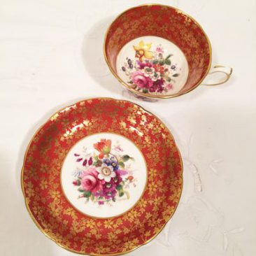Hammersley artist signed F. Howard teacup and saucer, Sold.