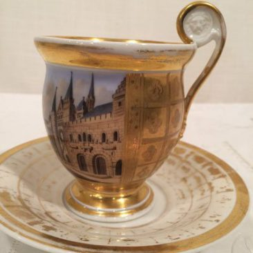 Antique Paris Porcelain cabinet cup and saucer