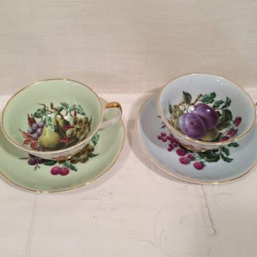 Royal Grafton fine bone china teacups with fruit. Price-$45 each